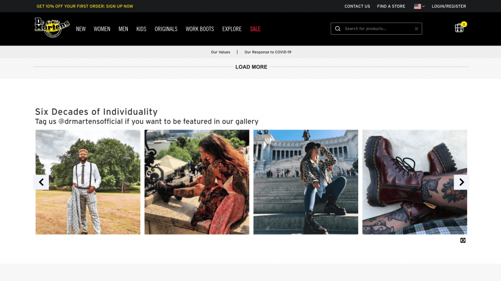 Dr. Martens Social Media Integration