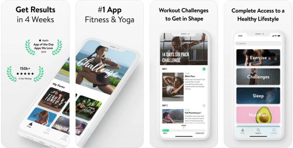 yoga and meditation app example