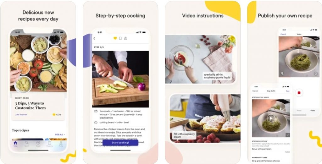 cooking app example
