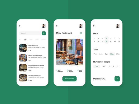 table reservation app example