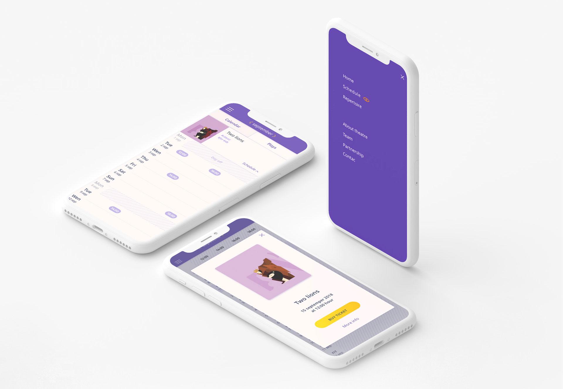 theatre app design