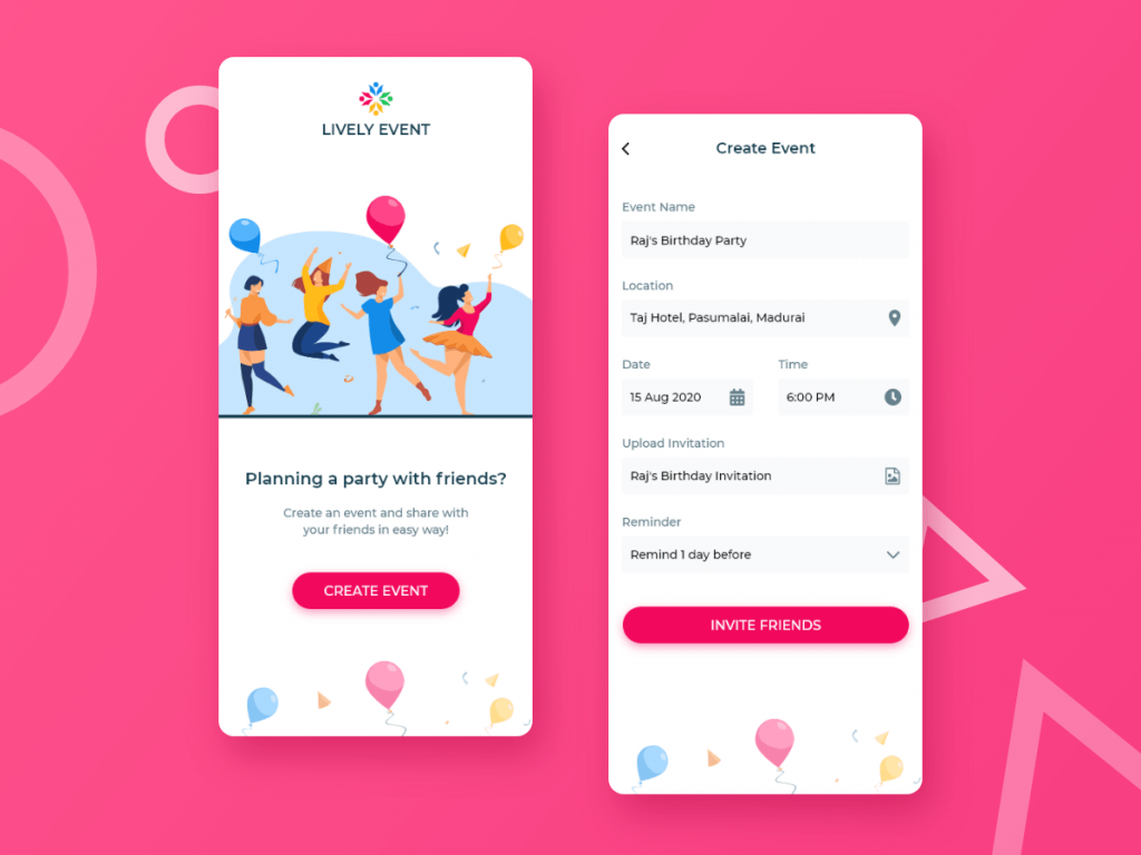 event planning app example
