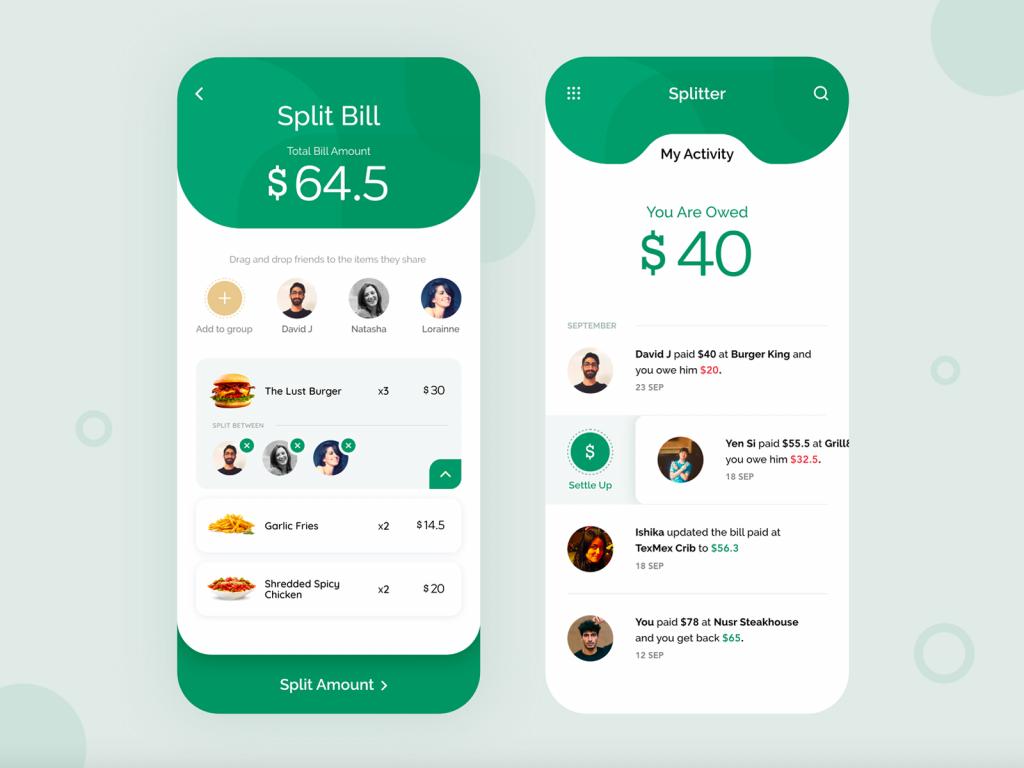 Split the bill app
