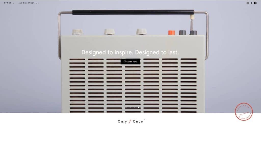 web design trends: minimalism